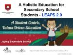 a holistic education for secondary school students leaps 2 0