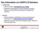 key information on leaps 2 0 domains1