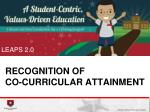 recognition of co curricular attainment