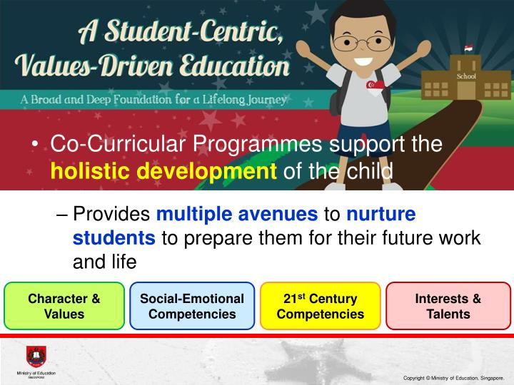 Co-Curricular Programmes support the