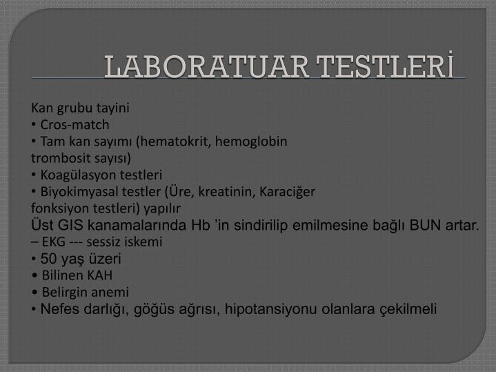 LABORATUAR TESTLERİ