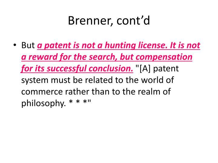 Brenner, cont'd