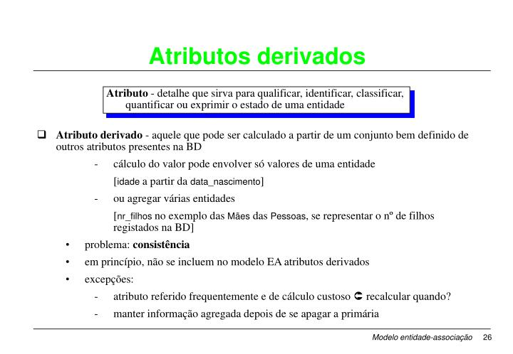Atributo derivado