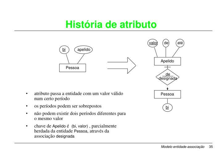 atributo passa a entidade com um valor válido num certo período