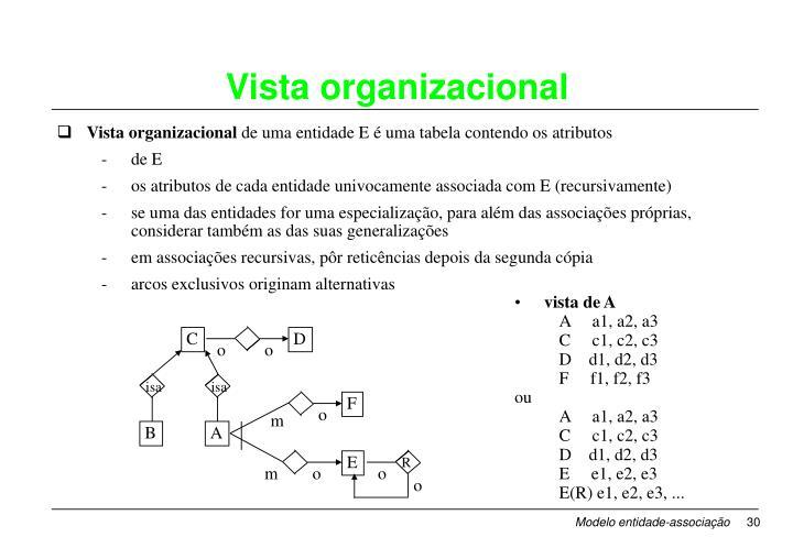 Vista organizacional