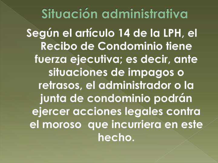 Situación administrativa
