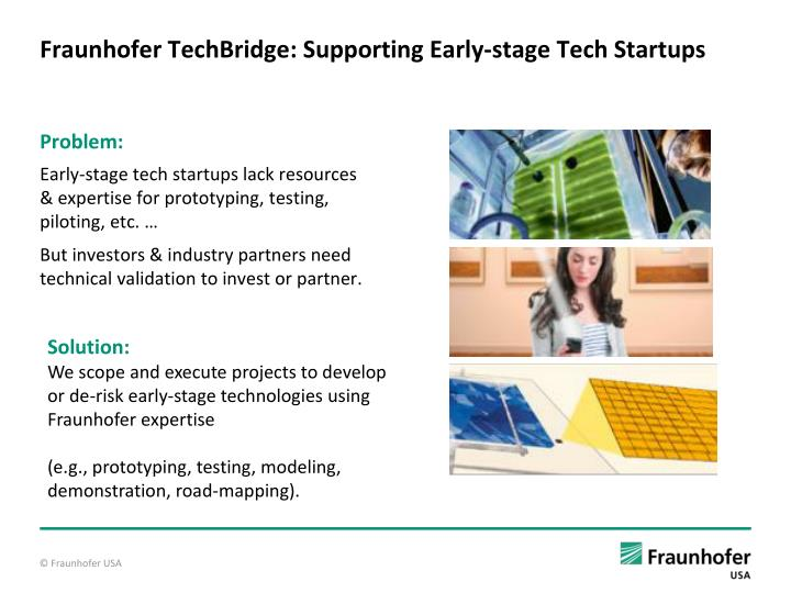 Fraunhofer TechBridge: Supporting Early-stage Tech Startups