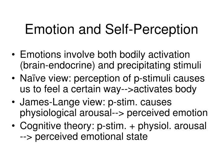 Emotion and Self-Perception