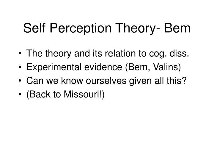 Self Perception Theory- Bem