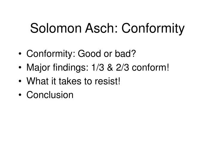Solomon Asch: Conformity