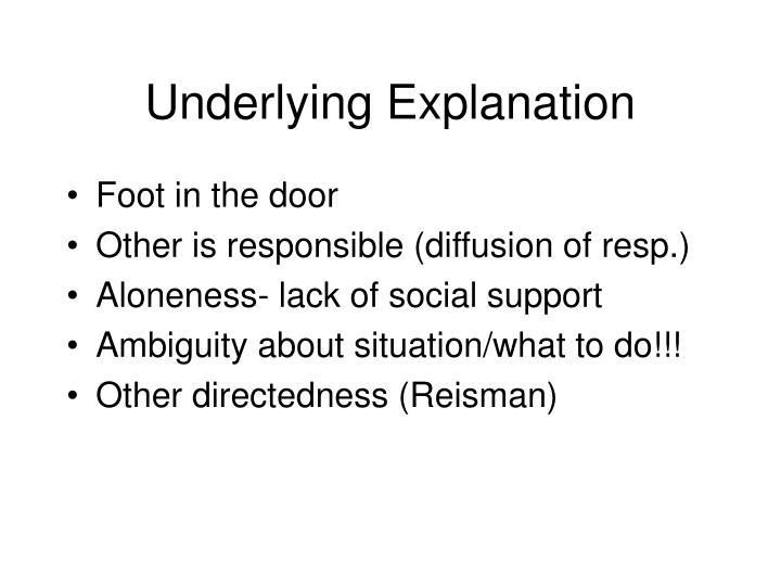 Underlying Explanation