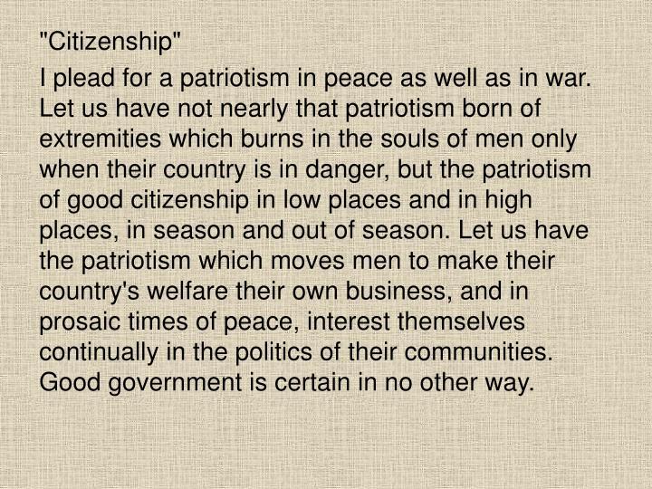 """""""Citizenship"""""""