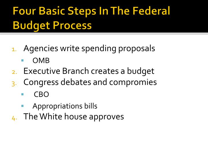 Four Basic Steps In The Federal Budget Process