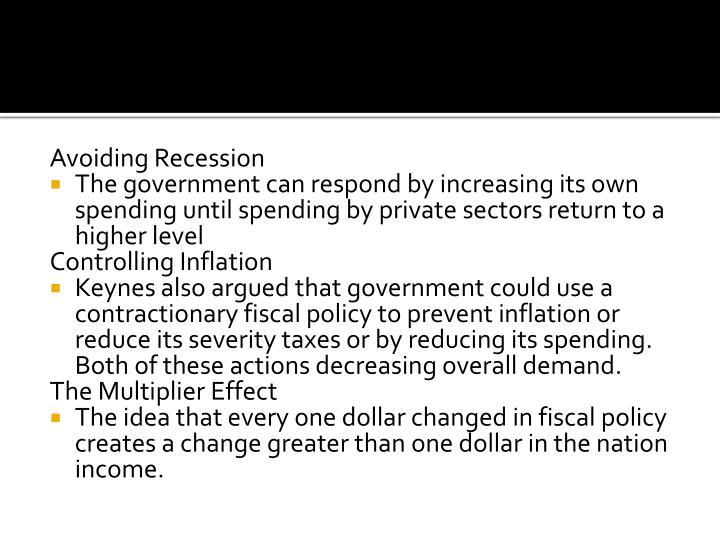 Avoiding Recession