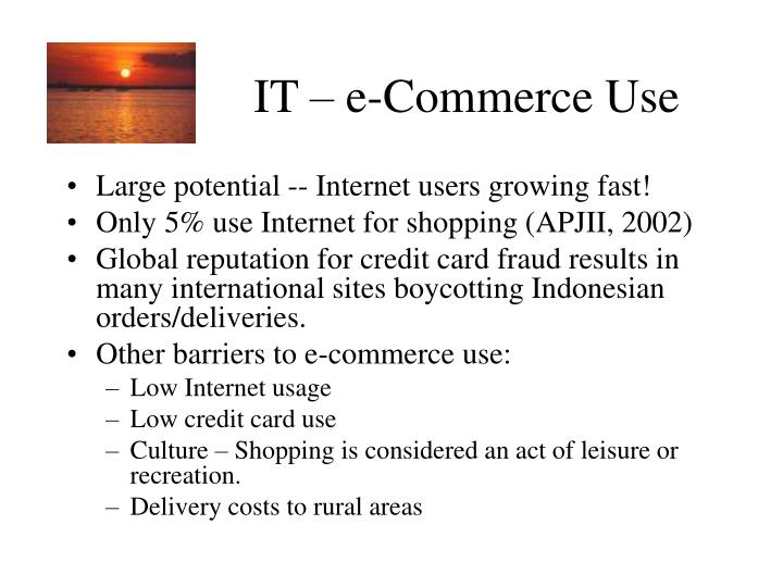 IT – e-Commerce Use