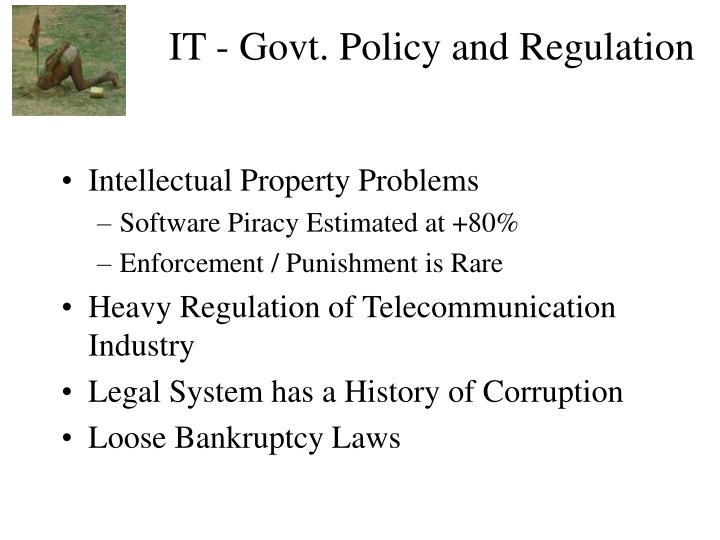 IT - Govt. Policy and Regulation