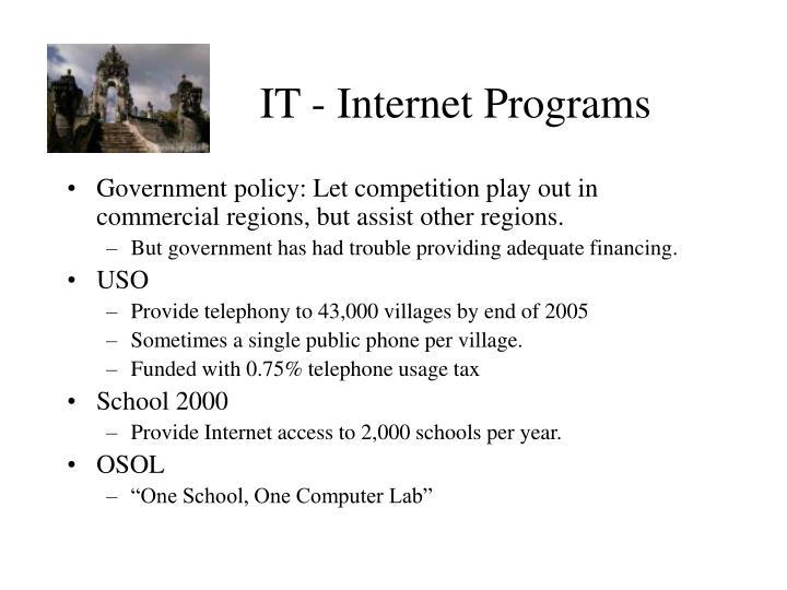 IT - Internet Programs