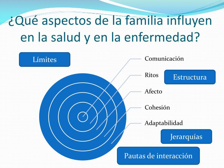 ¿Qué aspectos de la familia influyen en la salud y en la enfermedad?