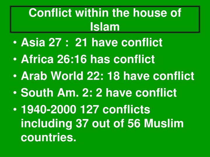 Conflict within the house of Islam
