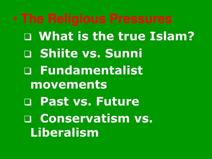 The Religious Pressures