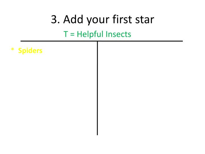3. Add your first star