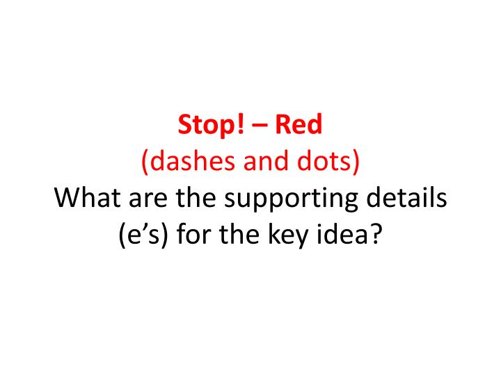 Stop! – Red