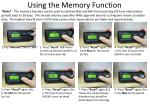 using the memory function
