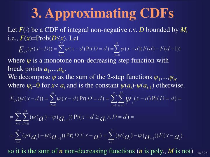 3. Approximating CDFs