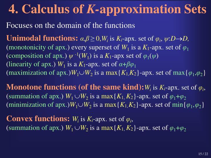 4. Calculus