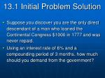13 1 initial problem solution