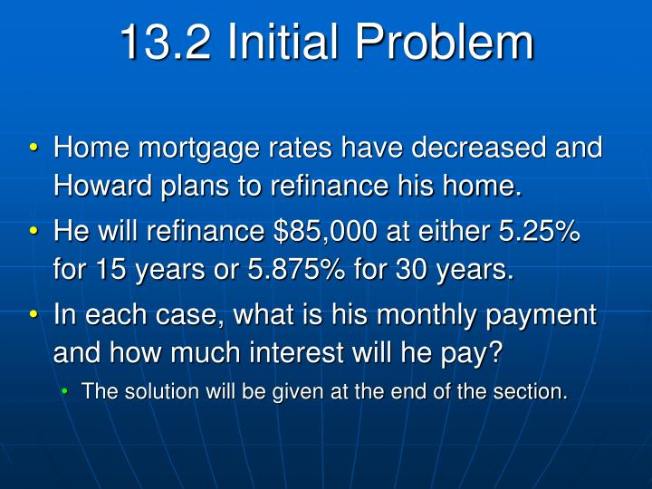 13.2 Initial Problem