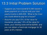 13 3 initial problem solution