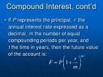 compound interest cont d