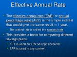 effective annual rate