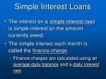 simple interest loans