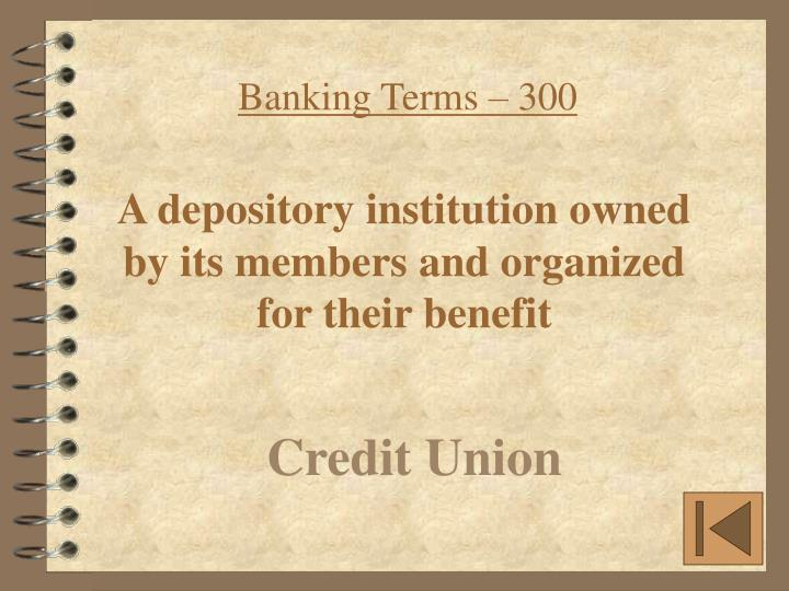 Banking Terms – 300