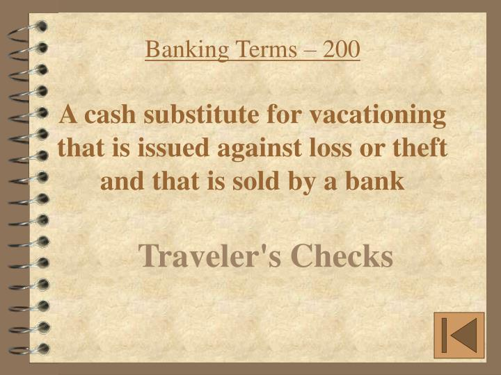 Banking Terms – 200