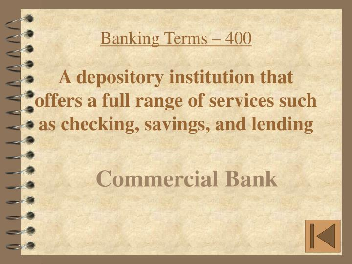 Banking Terms – 400