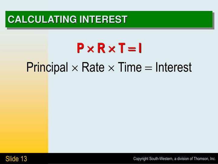 CALCULATING INTEREST