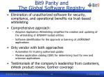 bit9 parity and the global software registry