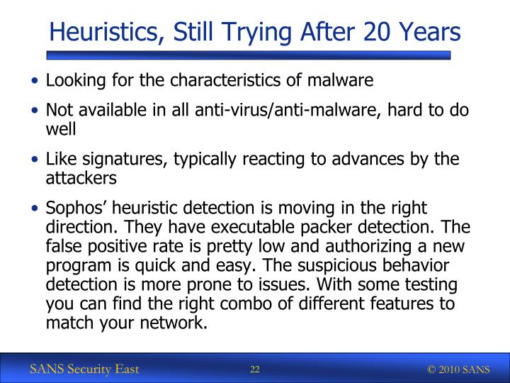 Heuristics, Still Trying After 20 Years