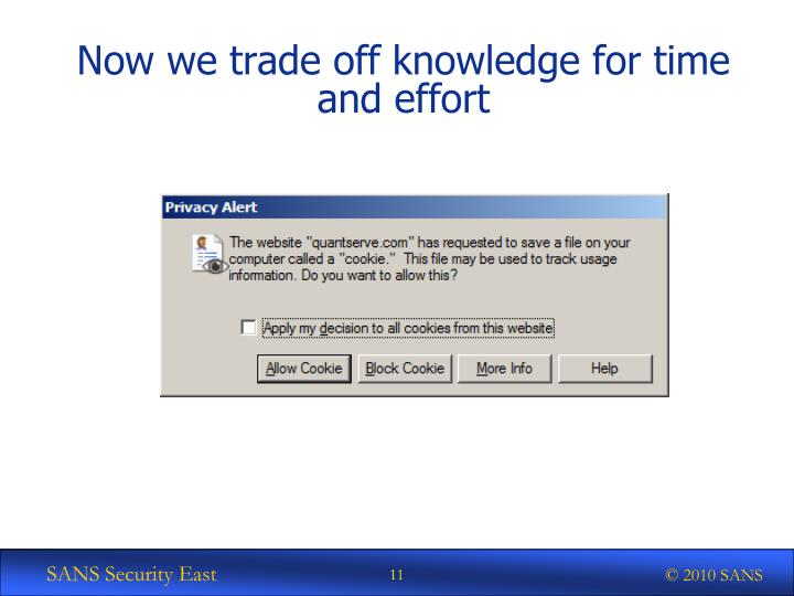 Now we trade off knowledge for time and effort