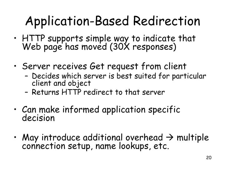 Application-Based Redirection