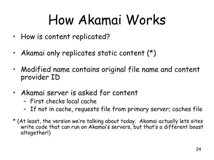 How Akamai Works