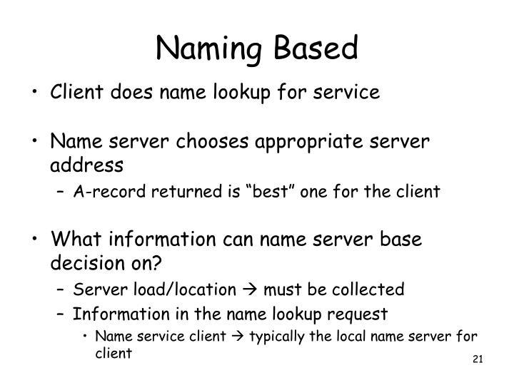 Naming Based