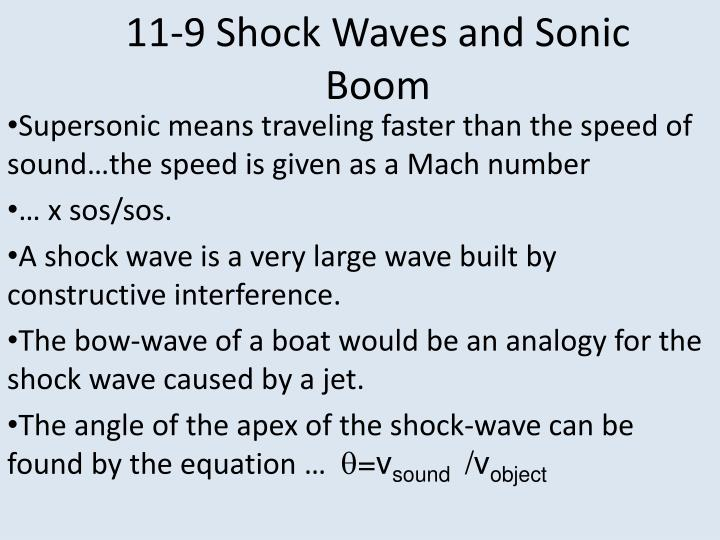 11-9 Shock Waves and Sonic Boom