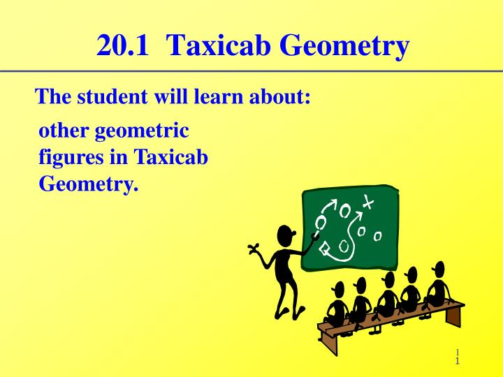 20 1 taxicab geometry