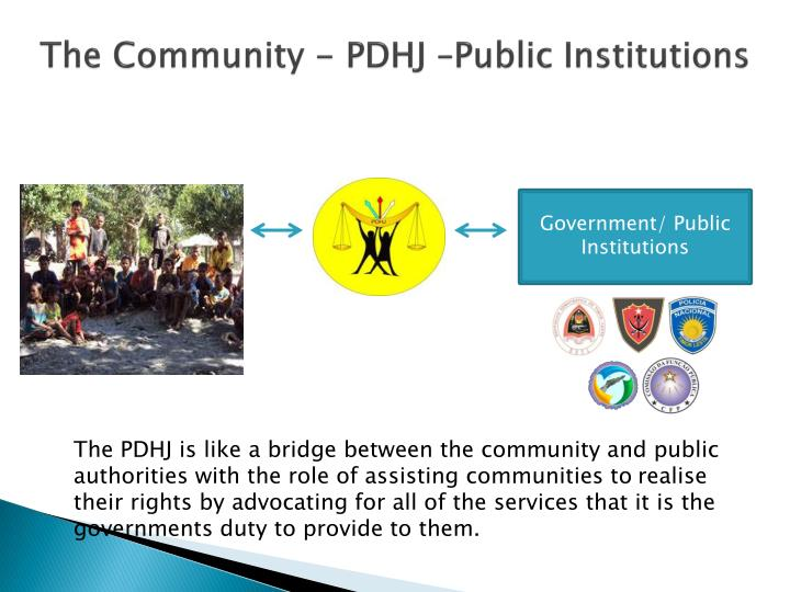 The community pdhj public institutions