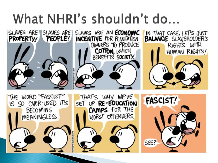 What NHRI's shouldn't do…