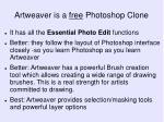 artweaver is a free photoshop clone